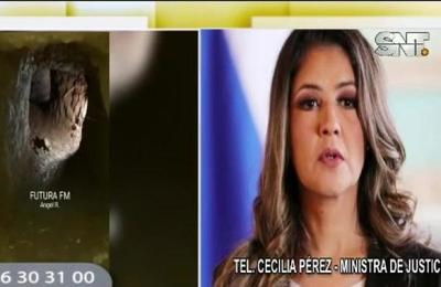 Ministra Cecilia Pérez: Si alguien ayudó en este plan de fuga será procesado