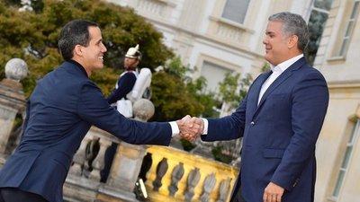 Duque y Guaidó mantuvieron su primera reunión de trabajo en Bogotá