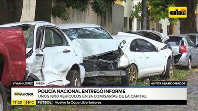 Policía Nacional entregó informe sobre autos abandonados