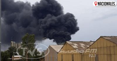 Se incendia parte de la planta de la INC en Villeta