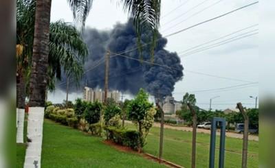 Susto en Industria Nacional del Cemento por incendio