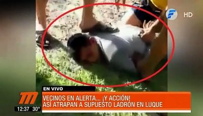 Vecinos persiguen y reducen a delincuente en Luque