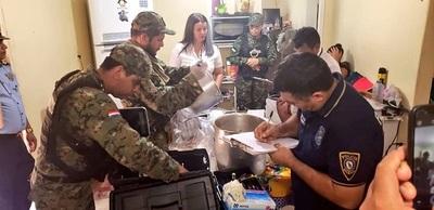 Hallan 20 k de pasta base para cocaína, durante allanamientos en PJC