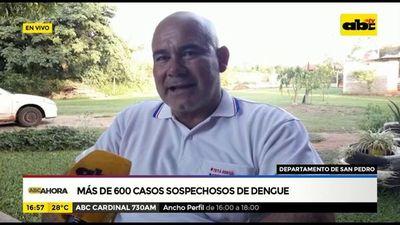 Más de 600 casos sospechosos de dengue en San Pedro