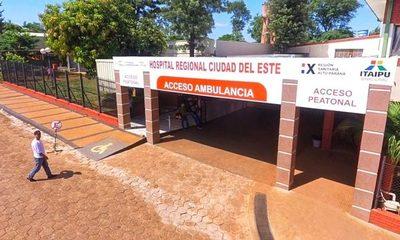 Itaipú invirtió unos G 1.600 millones en obras de revitalización del Hospital Regional de CDE