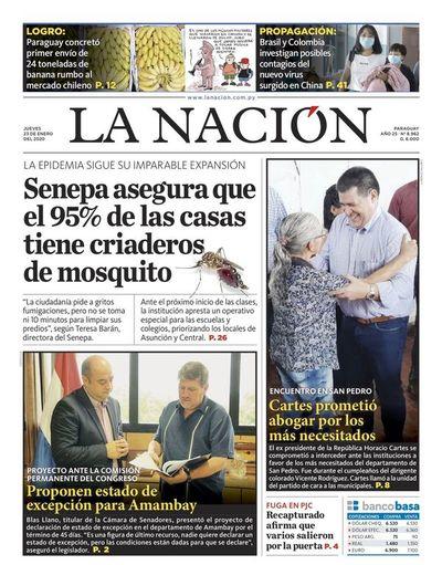 Edición impresa, 23 de enero de 2020