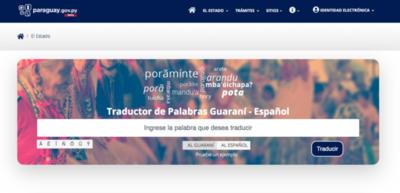 Lanzan traductor online castellano-guaraní