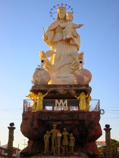 Vergüenza: monumento de María Auxiliadora sin luz ni agua