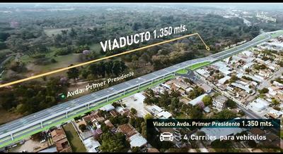 Informan sobre avances en viaducto del corredor vial Botánico