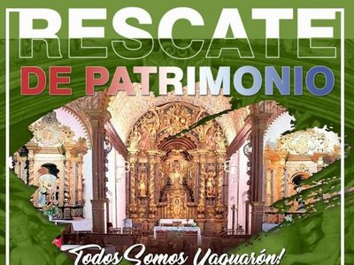 Juntarán firmas para recuperar retablos de la Iglesia de Yaguarón