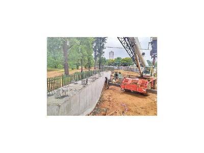 Montarán dinteles de viaducto en la zona del Jardín Botánico
