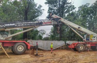 Corredor Vial Botánico: Se montarán los dinteles del viaducto de 460 metros