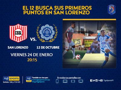 San Lorenzo y 12 de Octubre se ven en la Universitaria