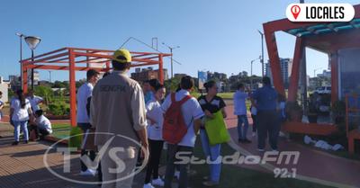 Autoridades Sanitarias realizaron minga ambiental por los barrios de Encarnación