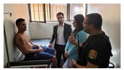 Informe médico constata lesiones en reo recapturado