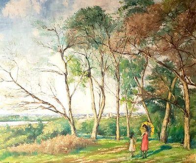 La mujer de la sombrilla, el parque y Ricardito Brugada