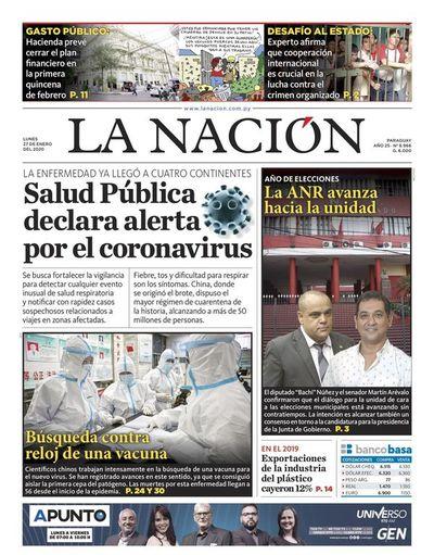Edición impresa, 27 de enero de 2020