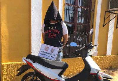 Concepción: Joven roba una moto y es detenido