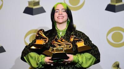 Billie Eilish fue la gran ganadora de la noche en los Grammys 2020