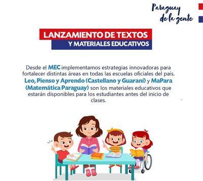 Lanzamiento de textos y materiales educativos para la innovación educativa