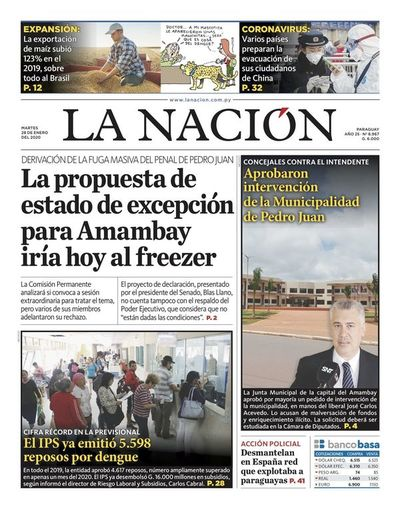 Edición impresa, 28 de enero de 2020