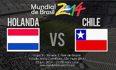 Holanda vs Chile en vivo mundial brasil 2014 (Hora, Previa, Alineaciones)