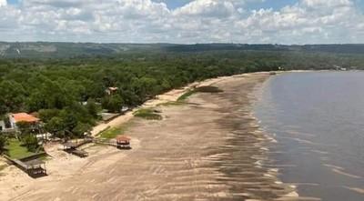 Obra no realizada por el MOPC ocasiona alarmante descenso del Lago Ypacaraí