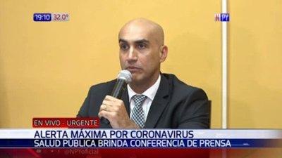 Ministerio de Salud anuncia primer caso sospechoso de coronavirus en Paraguay