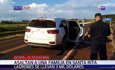 Piratas del asfalto roban USD 3.000 en Alto Paraná