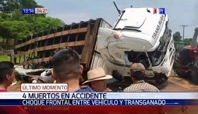 Al menos cinco muertos en accidente en San Pedro