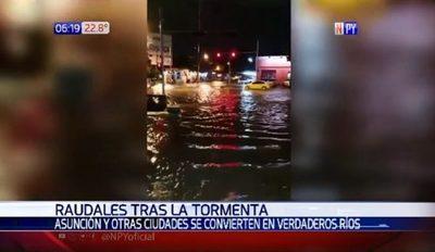 Intensas lluvias causaron peligrosos raudales en zonas críticas de Gran Asunción