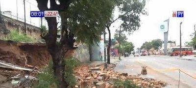 Muralla del Cristo Rey colapsó tras temporal