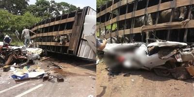 IDENTIFICAN A CUATRO FALLECIDOS EN ACCIDENTE EN VY'ARENDA