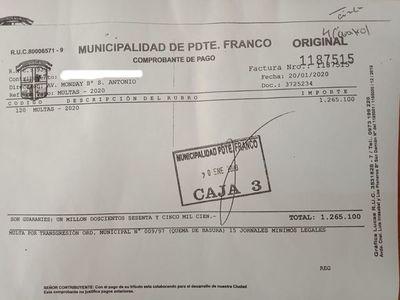 Pdte. Franco: Comuna aplica primera multa por quema de basura