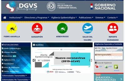 Ministerio de Salud Pública emite alerta sobre el coronavirus