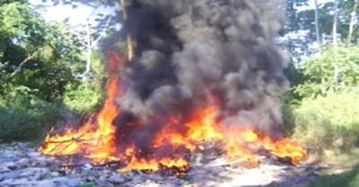 Reclamó quema de basura y casi muere