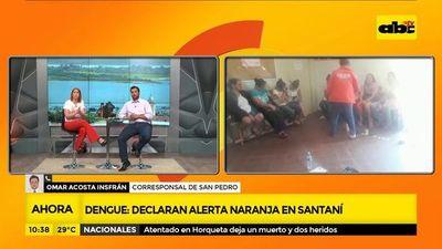 Dengue: Declaran alerta naranja en Santaní