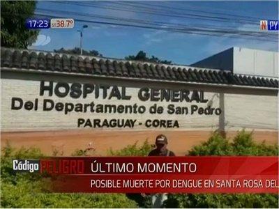Registran otra posible muerte por dengue en San Pedro