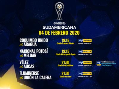 Arranca el show de la Copa Sudamericana por Tigo Sports