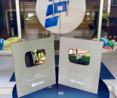 Cuentas de Telefuturo reciben placas de plata de Youtube
