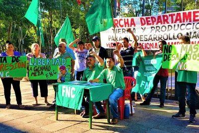 Campesinos inician marchas en diversos puntos del país