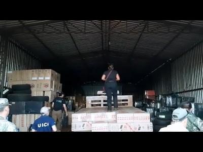 INCAUTAN MÁS DE 40 MILLONES DE CAJETILLAS DE CIGARRILLO DE CONTRABANDO