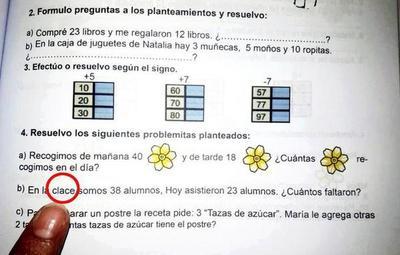 Ministerio de Educación minimiza errores en libros de matemática