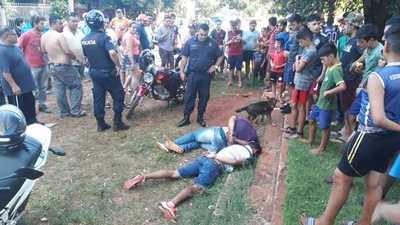 Motochorros detenidos tras intensa persecución policial en Minga Guazú