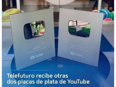 Telefuturo recibió dos placas de YouTube