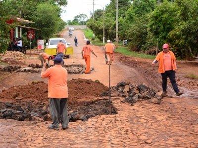 Comuna recurre a transferencia para ejecutar obras en los  barrios esteños