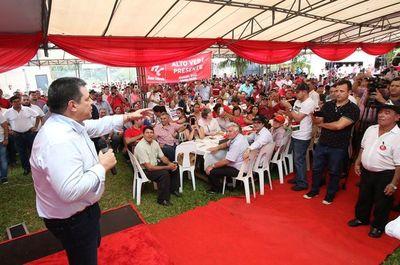 Horacio Cartes instó a la dirigencia de Itapúa a buscar la paz y el perdón