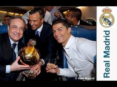 Cristiano Ronaldo Celebro asi su segundo Balón de Oro (Video)