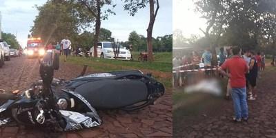 FATAL CAÍDA DE MOTOCICLETA  EN MAYOR OTAÑO
