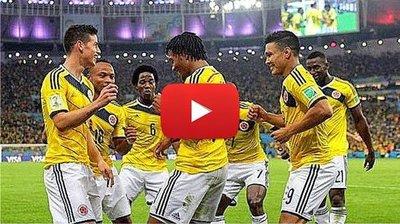 Colombia vs Uruguay (2-0) Resumen y Goles Mundial Brasil 2014